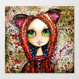 Glitter Fox Canvas Print
