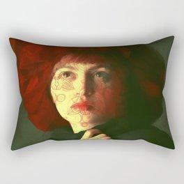 The red hat Rectangular Pillow