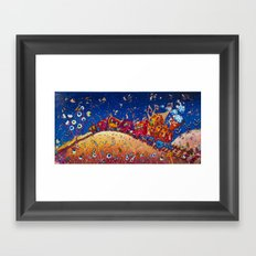 In the fronkey 's train Framed Art Print