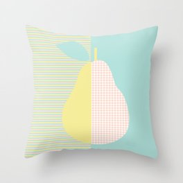 pear and patterns Throw Pillow