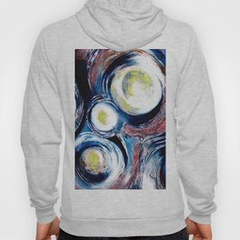 Geysers (Abstract White and Blue Circles) Hoody