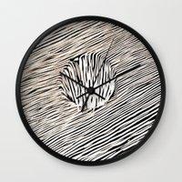 trip Wall Clocks featuring Trip by Diego L.D.