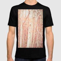 White Birch Trees Mens Fitted Tee Black MEDIUM