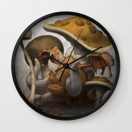 Moe the Mushroom Dragon Wall Clock