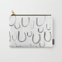 Watercolor U's - Grey Gray Carry-All Pouch