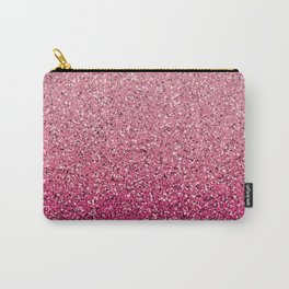 Pink Ombre Glitter Carry-All Pouch