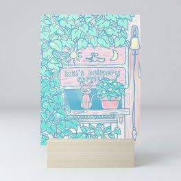 Jiji in the window Mini Art Print