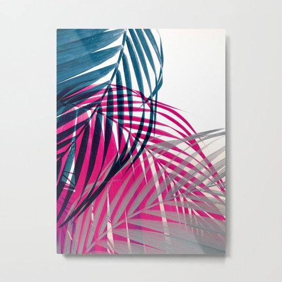 Trichromy Palms Metal Print