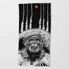 Space Monkey Beach Towel
