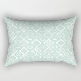 Mint Navajo Rectangular Pillow