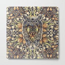 Owl Washed Metal Print