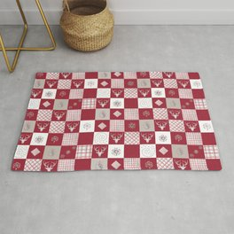 Christmas Patchwork Pattern Rug