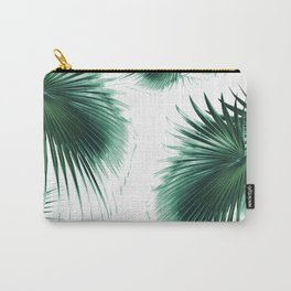 Fan Palm Leaves Paradise #7 #tropical #decor #art #society6 Carry-All Pouch