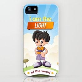 I am the Light of the world. iPhone Case