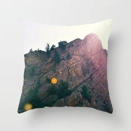 Sunshine on the Rocks Throw Pillow