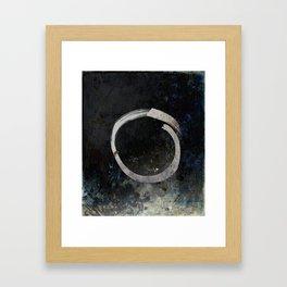 Enso #5 - Ghost Framed Art Print