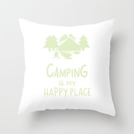 Camping Campfire Gifts Throw Pillow