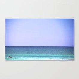 lone surfer Canvas Print