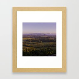 Sunrise Glassy Mountain, South Carolina Framed Art Print