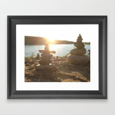 Collecting Thoughts at Sunset Framed Art Print