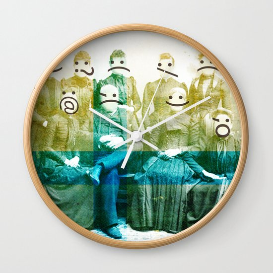 the semicolon sisters Wall Clock