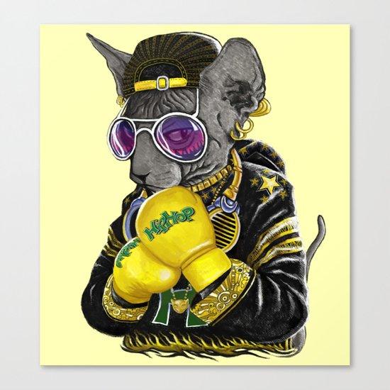 Boxing Cat 3 Canvas Print