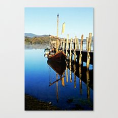 Derwent Water Boat Canvas Print