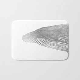 Grey Humpback whale portrait Bath Mat
