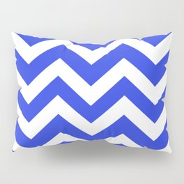 Palatinate blue - blue color - Zigzag Chevron Pattern Pillow Sham