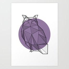 Owl - Geometric Animals Art Print