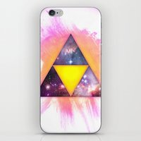 triforce iPhone & iPod Skins featuring Cosmic Triforce by Spooky Dooky