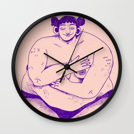 Fat Babe Club Wall Clock