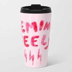 Feminist Feels Metal Travel Mug