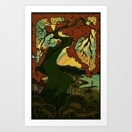 Nouveau Sun Art Print