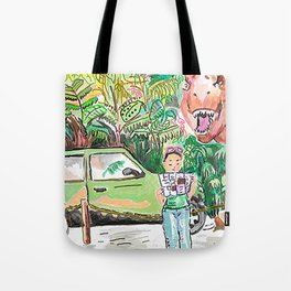 Dino Trouble Tote Bag