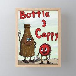 FALLOUT Bottle & Cappy Framed Mini Art Print