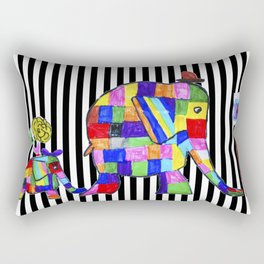 Elephant Festival |Family Walk | #society6 Rectangular Pillow