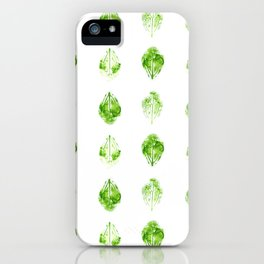 Leaves Stamped in Watercolor iPhone Case