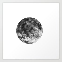 Isolated Moon Art Print