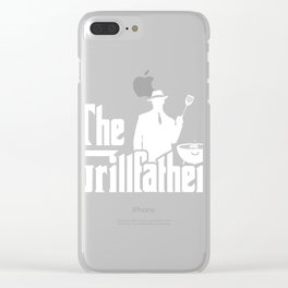 The Grillfather Funny BBQ Grilling graphic for Grill Master Clear iPhone Case