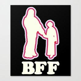 Leia & Chewie: BFF Canvas Print