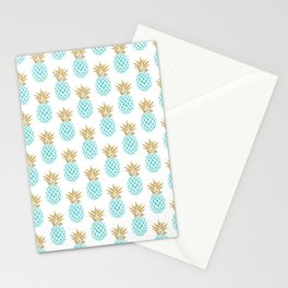 Elegant faux gold pineapple pattern Stationery Cards