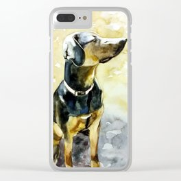 Sunshine Doggy Clear iPhone Case