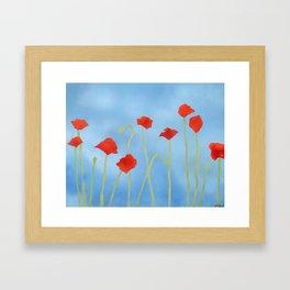 Poppies wide Framed Art Print