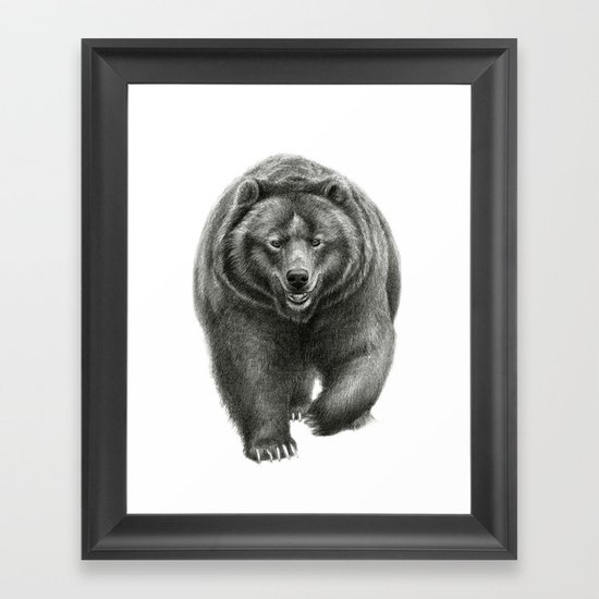 Brown Bear SK068 Framed Art Print