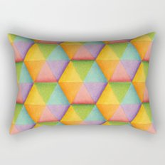 Rainbow Facets Rectangular Pillow