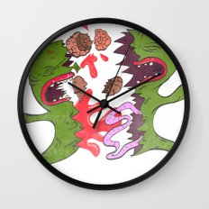 Sucks to be on a zip up Wall Clock