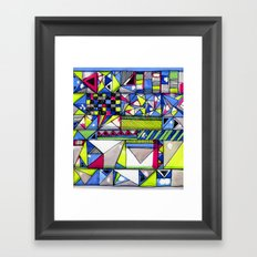 Neon Textures Framed Art Print