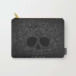 Floral  Skull Carry-All Pouch