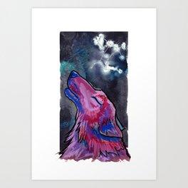 Constellation Canis Major Art Print